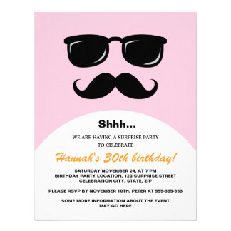 El fiesta de sorpresa rosado y anaranjado incógnit anuncios personalizados