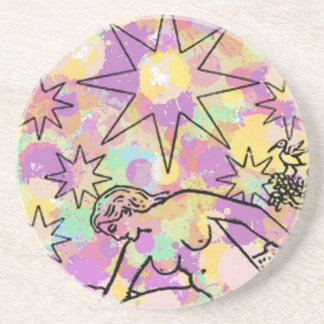El fiesta de Tarot de la estrella Posavasos De Arenisca