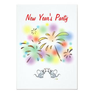 """El fiesta del Año Nuevo Invitación 5"""" X 7"""""""