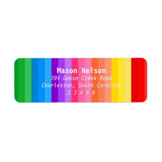 El fiesta del arte coloreó la etiqueta de los etiqueta de remite