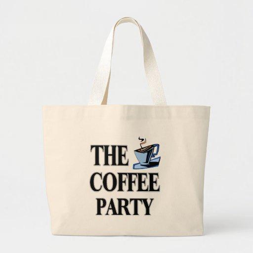 El fiesta del café bolsa tela grande