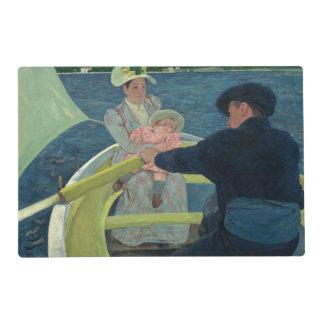 El fiesta del canotaje de Mary Cassatt Tapete Individual