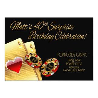 El fiesta del casino de Matt PIDE que PONGA Invitación 12,7 X 17,8 Cm