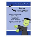 El fiesta del cumpleaños 5x7 Frankenstein de Hallo
