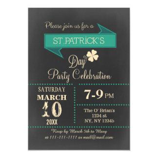 """El fiesta del día de St Patrick del vintage de la Invitación 5"""" X 7"""""""