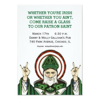 """El fiesta del día de St Patrick invita Invitación 5"""" X 7"""""""
