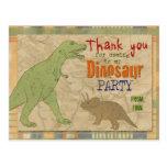 El fiesta del dinosaurio le agradece postal