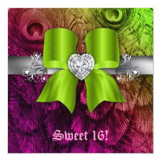 """El fiesta del dulce 16 de la diversión invita a la invitación 5.25"""" x 5.25"""""""