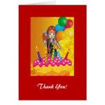 El fiesta del feliz cumpleaños le agradece tarjeta
