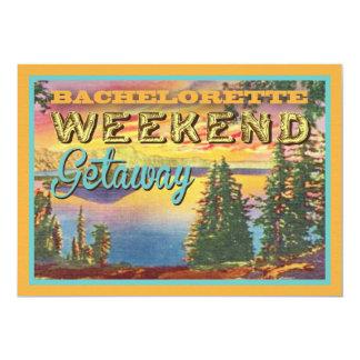 El fiesta del fin de semana de Bachelorette del Invitación 12,7 X 17,8 Cm