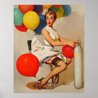 El fiesta del helio del vintage hincha el Pin de E Posters