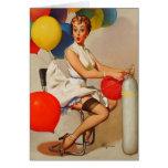 El fiesta del helio del vintage hincha el Pin de E Tarjeton