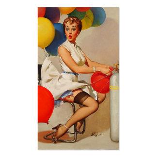 El fiesta del helio del vintage hincha el Pin de E Plantillas De Tarjetas De Visita