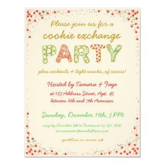 """El fiesta del intercambio del intercambio de la invitación 4.25"""" x 5.5"""""""