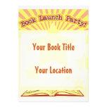 El fiesta del lanzamiento del libro invita invitación personalizada