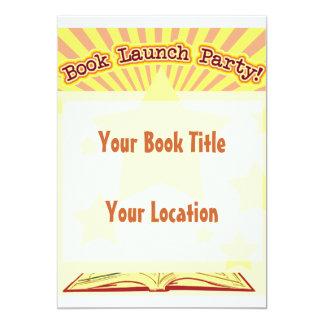El fiesta del lanzamiento del libro invita invitación 12,7 x 17,8 cm