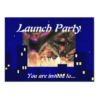 """El fiesta del lazo negro del lanzamiento de la invitación 4.5"""" x 6.25"""""""