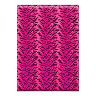 El fiesta del monedero de la moda de la cebra de invitación 12,7 x 17,8 cm