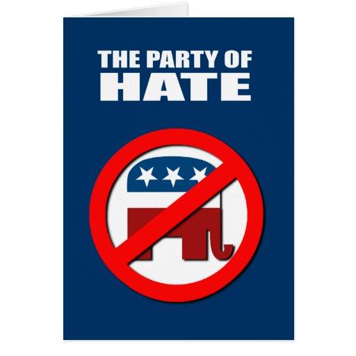 El fiesta del odio tarjeta