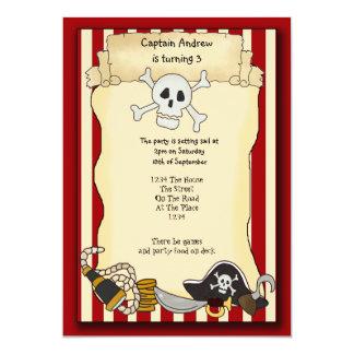 El fiesta del pirata invita invitación