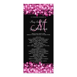 """El fiesta del programa del boda chispea rosa invitación 4"""" x 9.25"""""""