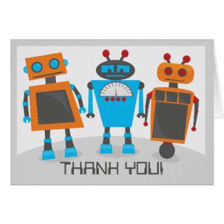El fiesta del robot le agradece Notecard Tarjeta Pequeña