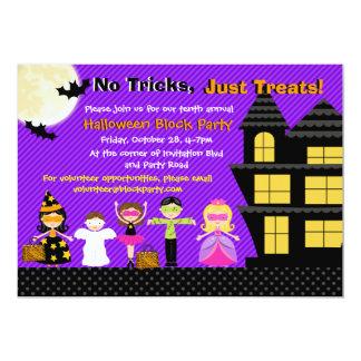 """El fiesta del traje de Halloween de los niños de Invitación 5"""" X 7"""""""