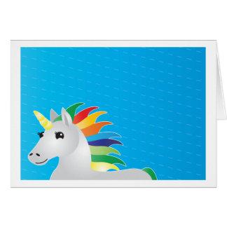 el fiesta del unicornio del arco iris invita en ba tarjeta de felicitación
