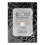 """El fiesta del Web de araña de Halloween Invitación 4.5"""" X 6.25"""""""
