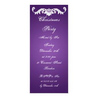 El fiesta delgado invita al ornamento del vintage invitación 10,1 x 23,5 cm