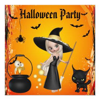 """El fiesta divertido de Halloween del Brew de las Invitación 5.25"""" X 5.25"""""""