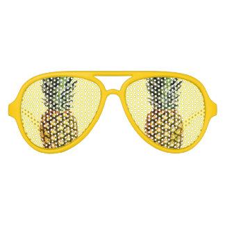 El fiesta divertido de la fruta de la piña sombrea lentes de fiesta