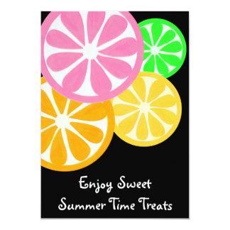 El fiesta dulce de las invitaciones del tiempo de invitación 12,7 x 17,8 cm