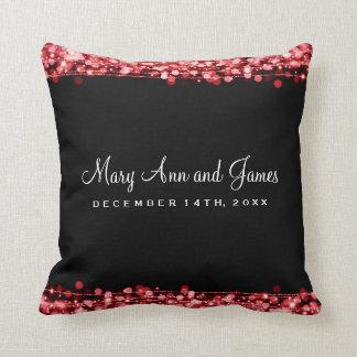 El fiesta elegante del favor del boda chispea rojo almohadas
