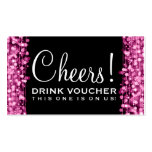 El fiesta elegante del vale de la bebida chispea r tarjetas de visita