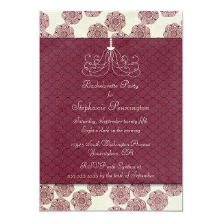 El fiesta elegante elegante del bachelorette del invitación 12,7 x 17,8 cm