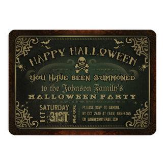 """El fiesta espeluznante del feliz Halloween del Invitación 5"""" X 7"""""""
