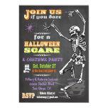 El fiesta esquelético de Halloween del baile de la Invitación 12,7 X 17,8 Cm