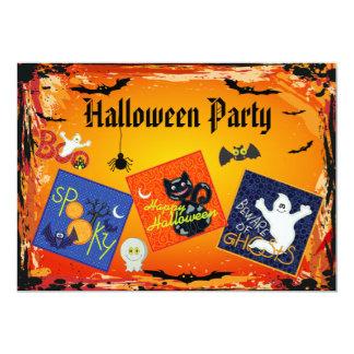 """El fiesta fantasmagórico de Halloween de los Invitación 5"""" X 7"""""""