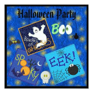 """El fiesta fantasmagórico de Halloween de los Invitación 5.25"""" X 5.25"""""""