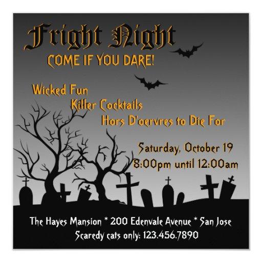 El fiesta fantasmagórico de Halloween invita Comunicados Personalizados