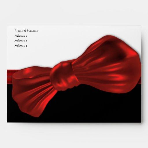 El fiesta formal rojo de la pajarita envuelve la p