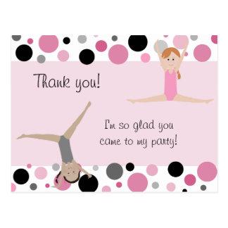 El fiesta gimnástico le agradece en rosado gris y tarjetas postales