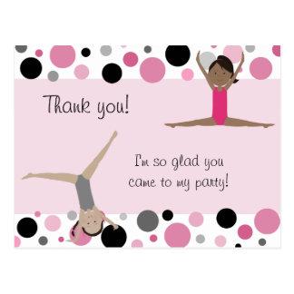 El fiesta gimnástico le agradece en rosado gris y postales