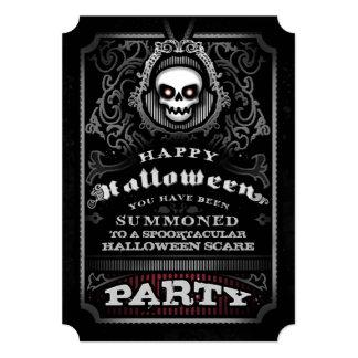 """El fiesta gótico del feliz Halloween invita - al Invitación 5"""" X 7"""""""