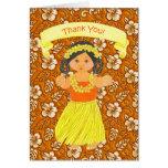 El fiesta hawaiano de Luau le agradece las tarjeta