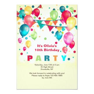 El fiesta hincha la invitación