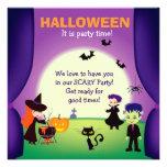 El fiesta ilustrado del niño de Halloween invita Invitaciones Personales