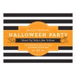El fiesta intrépido de Halloween de las rayas invi Invitación