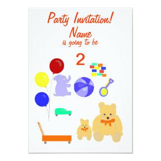 El fiesta invita al niño de las tarjetas de RSVP Invitaciones Personales
